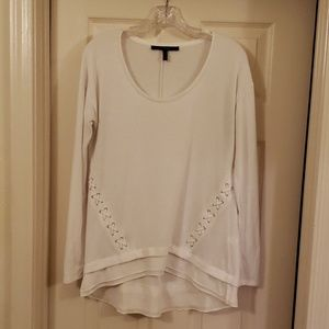 WHBM sz S long sleeve tee with cute details